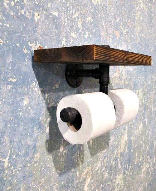 Dvojitý držák toaletního papíru