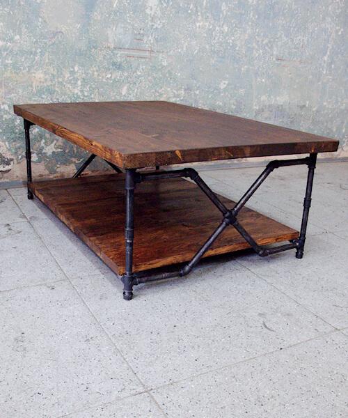 Industriální konferenční stůl X-KONFERENZ - červotoč