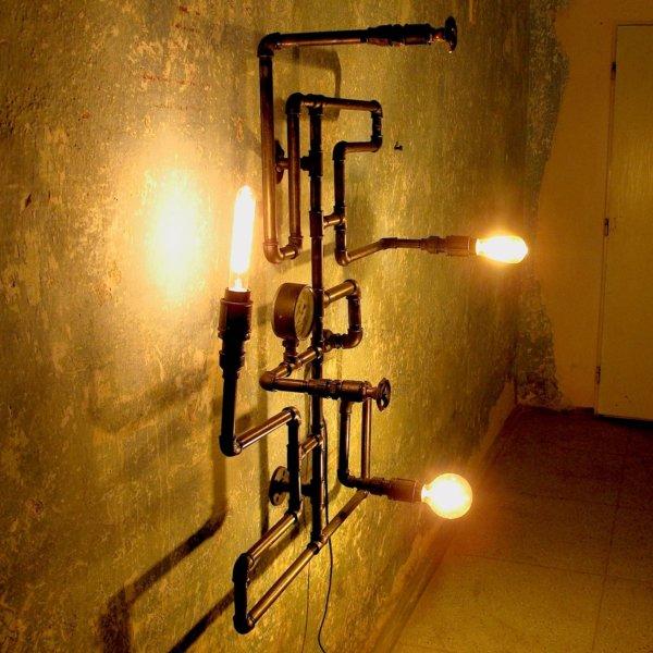 Industriální designový lustr do loftu